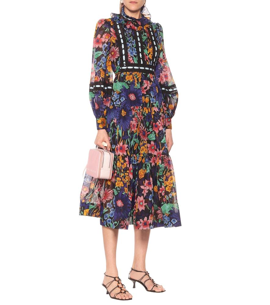 Cotton-voile floral midi dress by Marc Jacobs