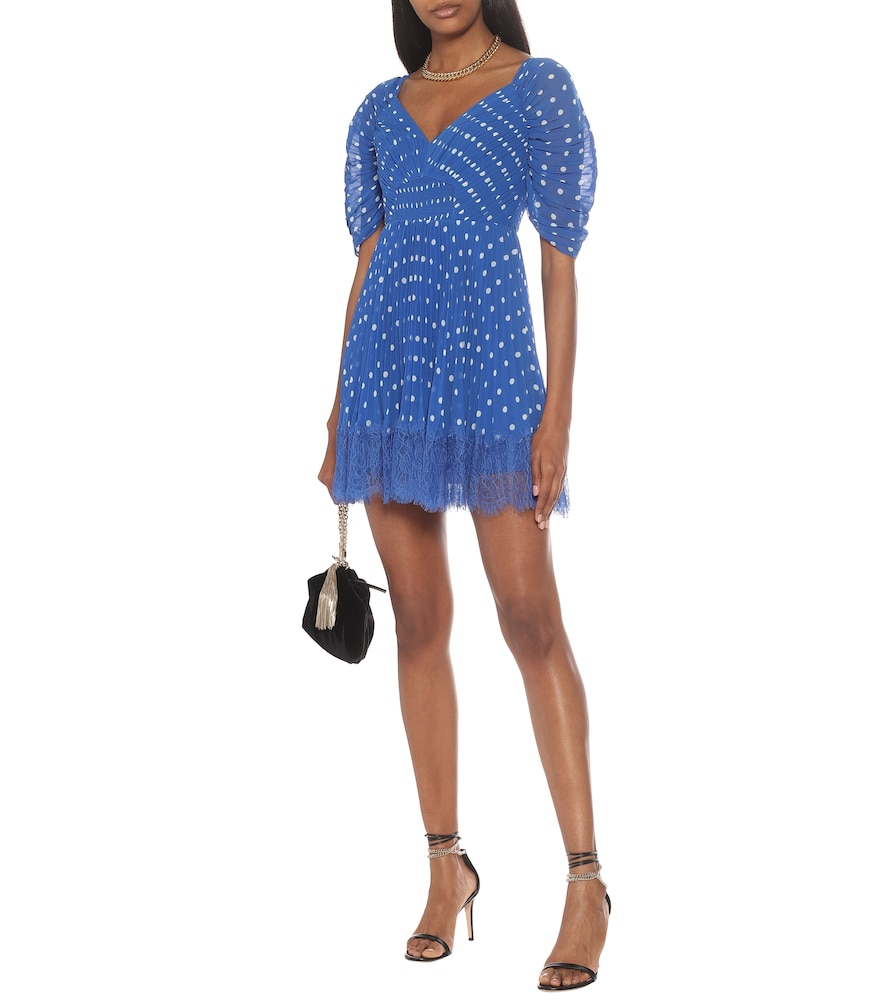 Polka-dot chiffon minidress by Self-Portrait