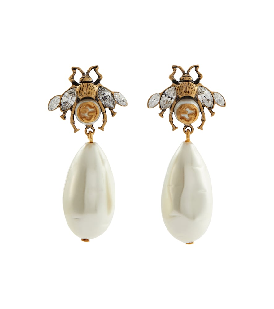 Brass And Crystal Earrings in 8062 Antic