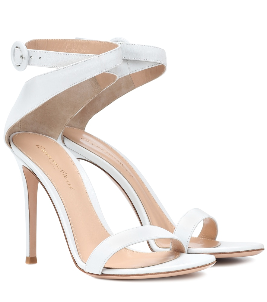 GIANVITO ROSSI EXCLUSIVE TO MYTHERESA.COM - CROSS STRAP LEATHER SANDALS
