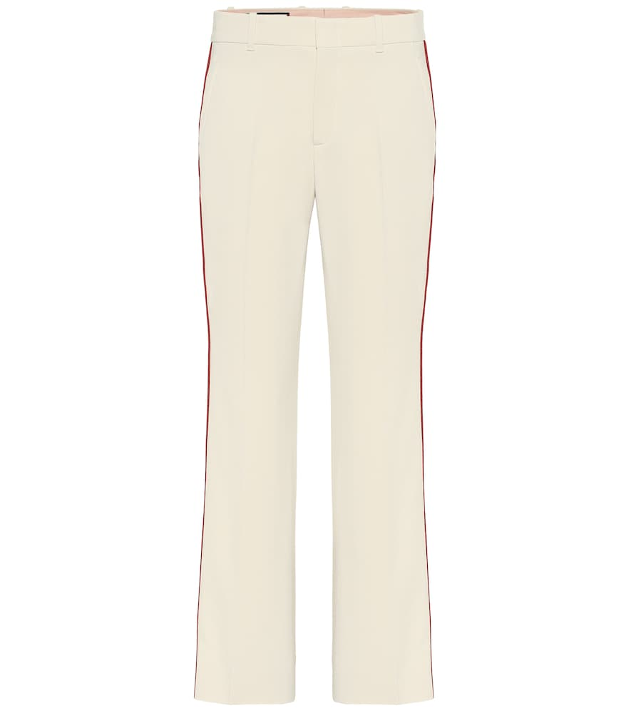 Gucci Stretch-Cady Bootcut Pants In White