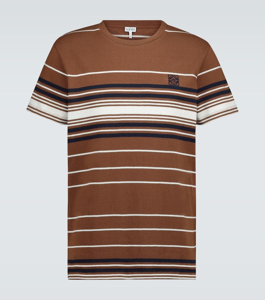 T-shirt rayé en coton - Loewe - Modalova