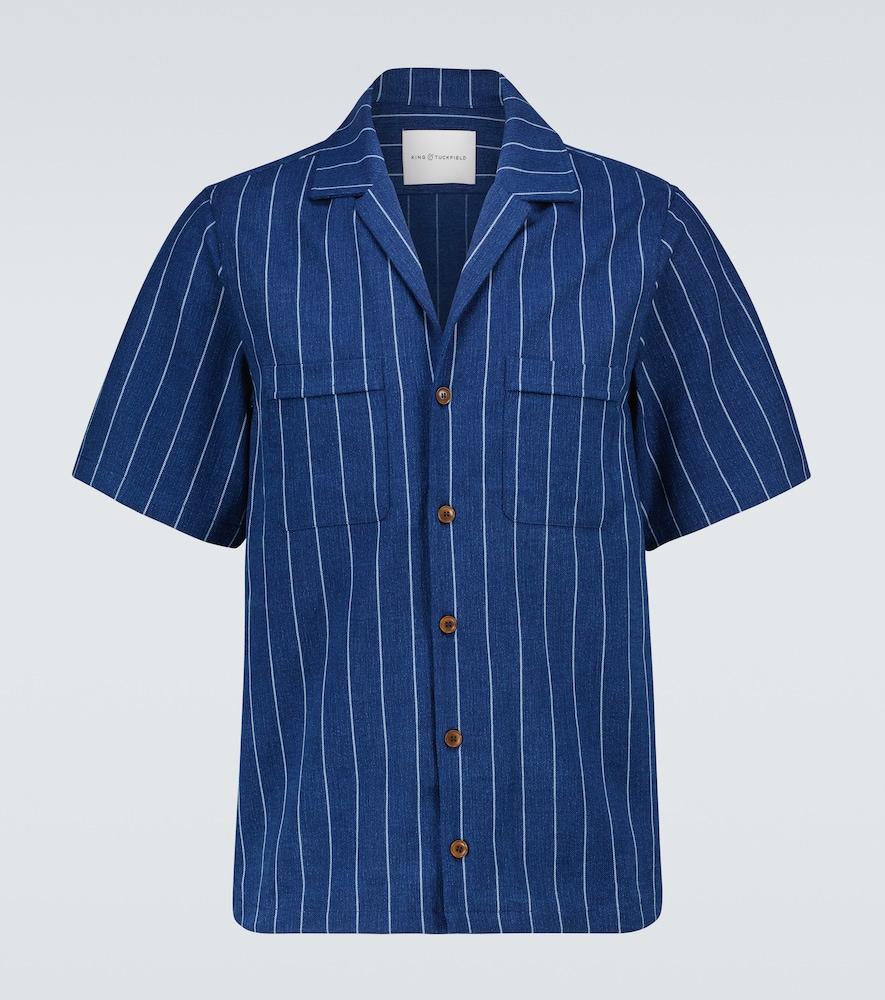 Pinstriped bowling shirt