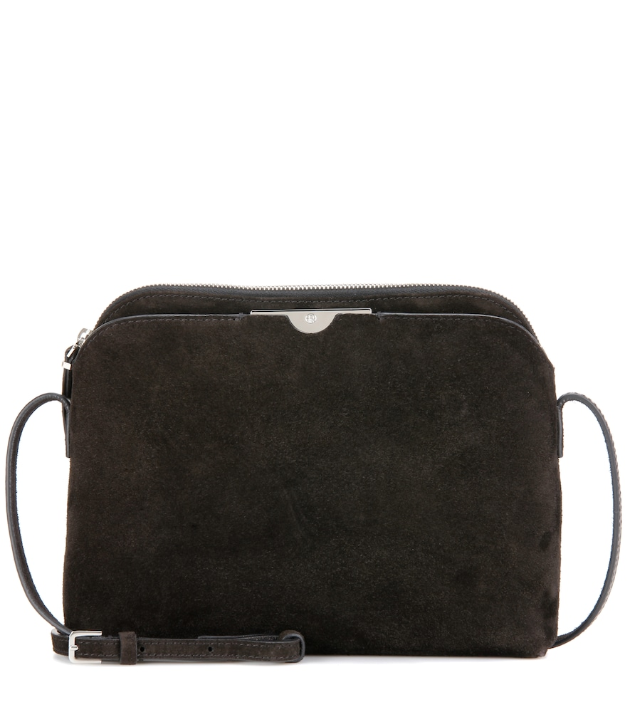 Multi Pouch Suede Shoulder Bag