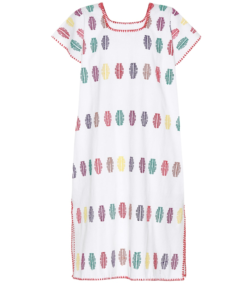 PIPPA HOLT No. 69 Embroidered Cotton Kaftan in White