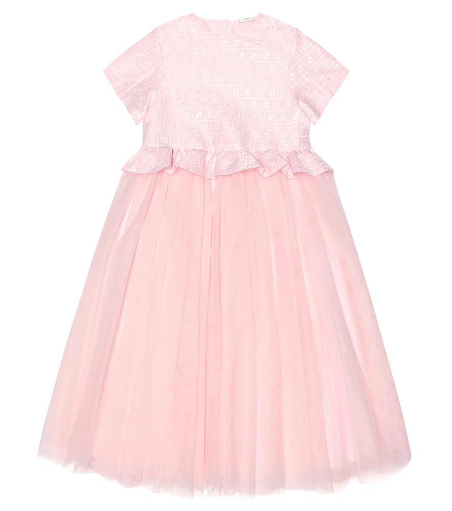 FENDI KIDS | Cotton And Tulle Dress | Goxip