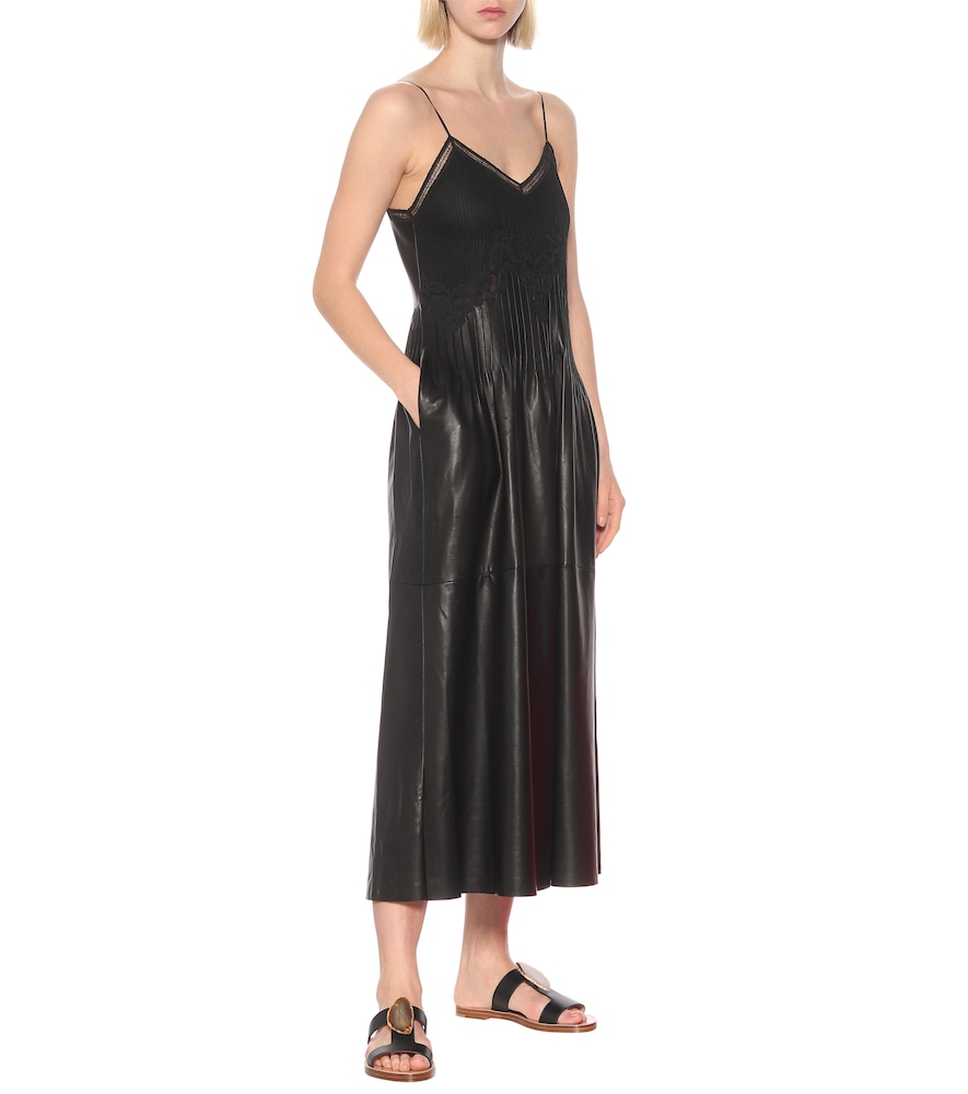Photo of Althea leather midi dress by Gabriela Hearst - shop Gabriela Hearst Dresses, Midi & Long Dresses online