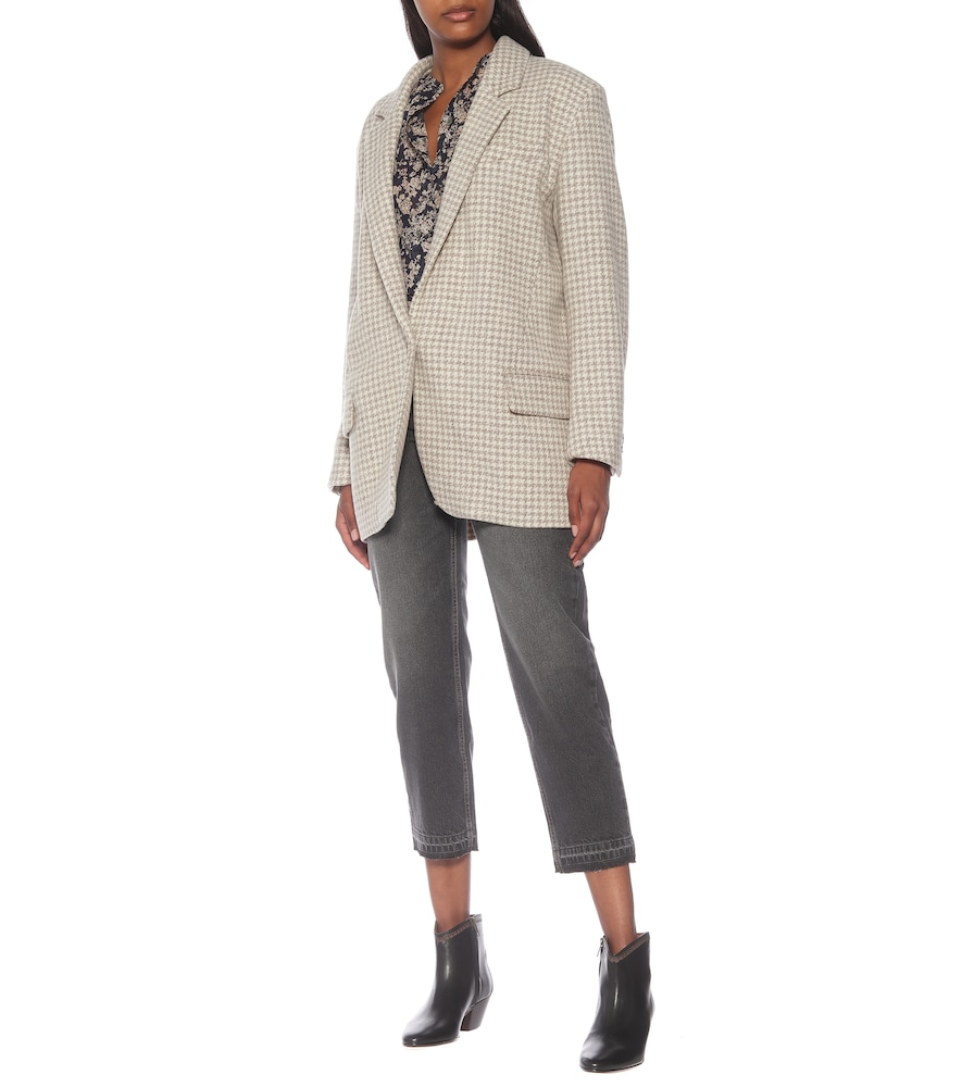 Kaito houndstooth virgin-wool blazer by Isabel Marant, Étoile