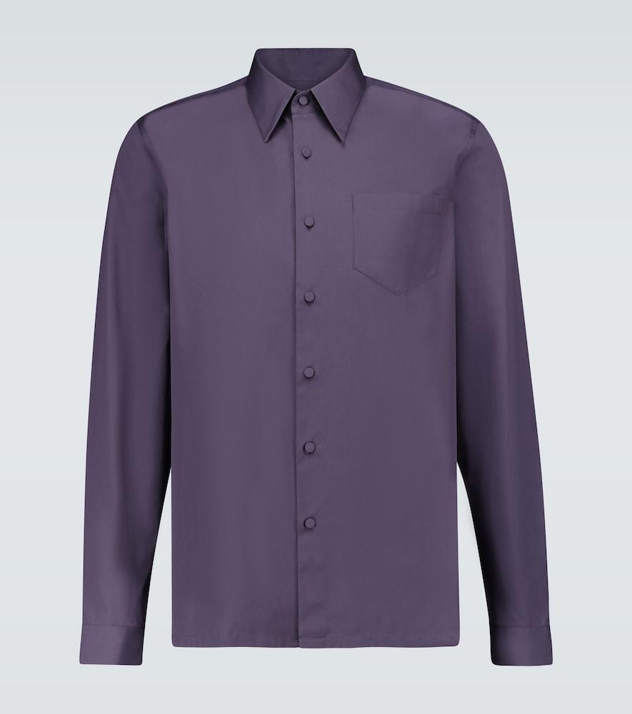 Chemise en coton à manches longues - Prada - Modalova