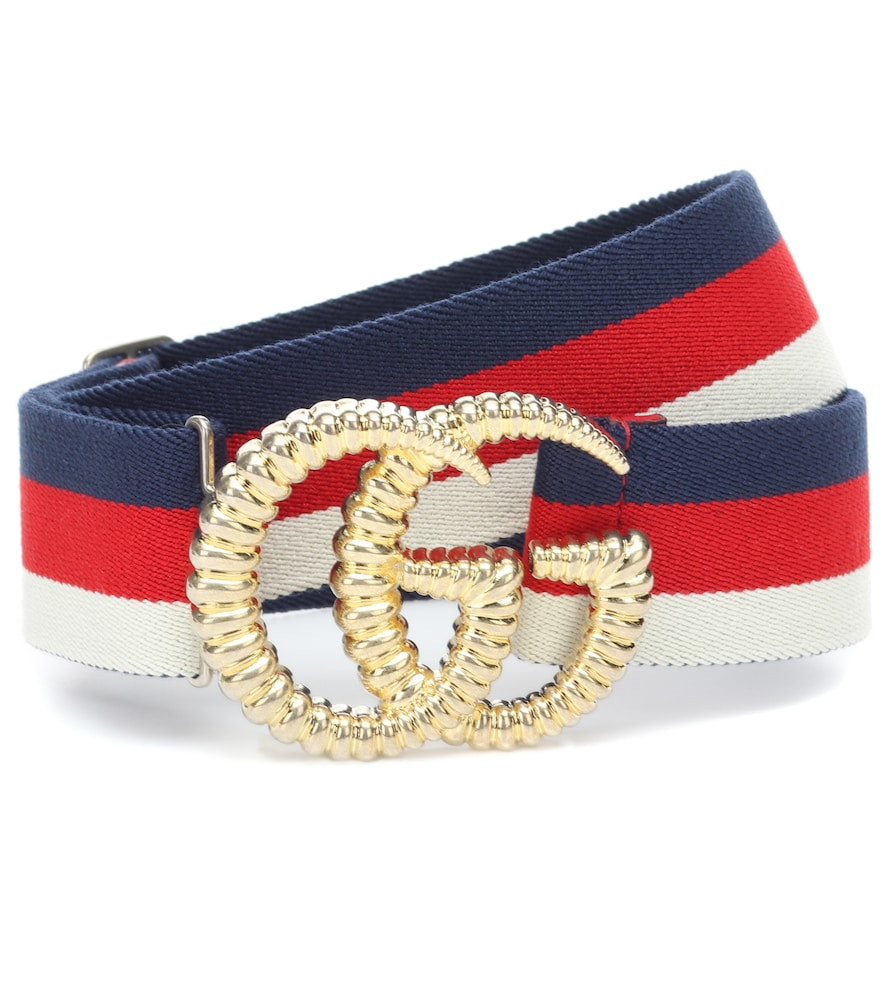 Gg Striped Web Belt in Multicoloured