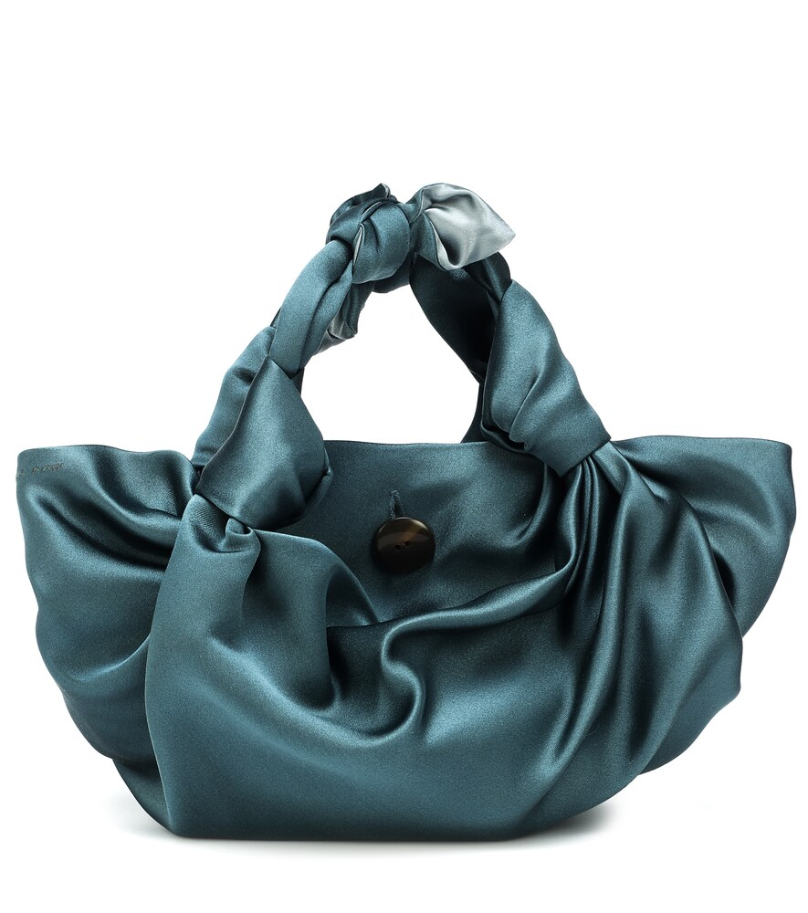 The Ascot Satin Clutch in Blue