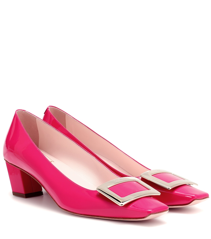 Roger Vivier Belle Vivier Patent Leather Pumps In Pink