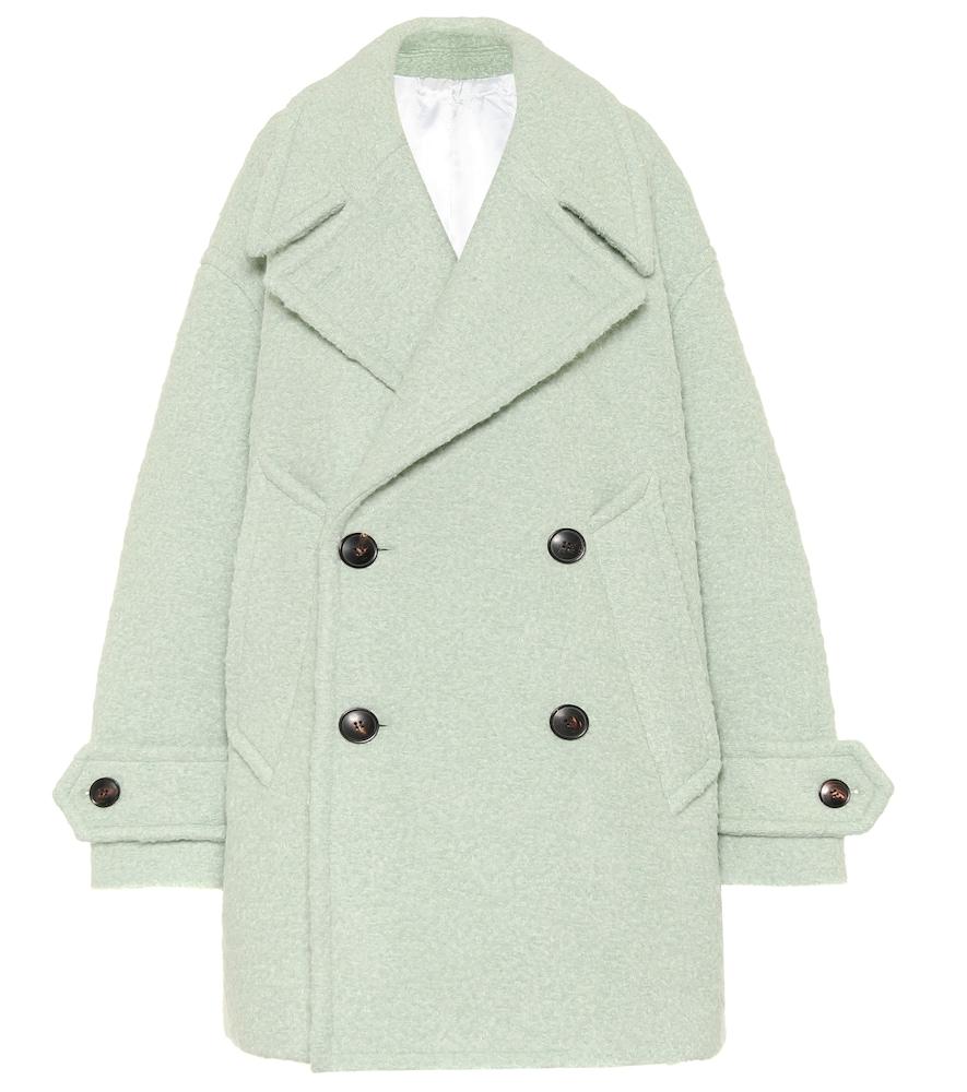Manteau en laine et alpaga mélangés - AMI - Modalova
