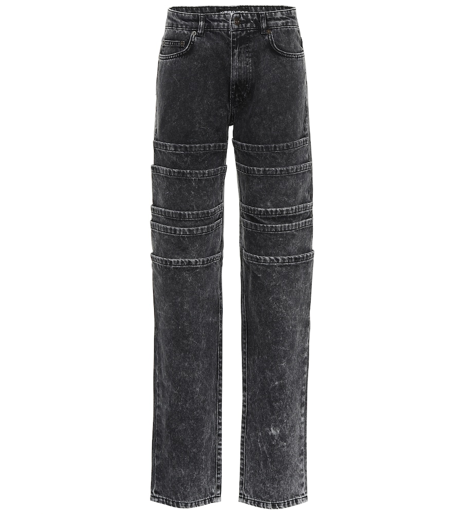 LAYERED WIDE-LEG JEANS