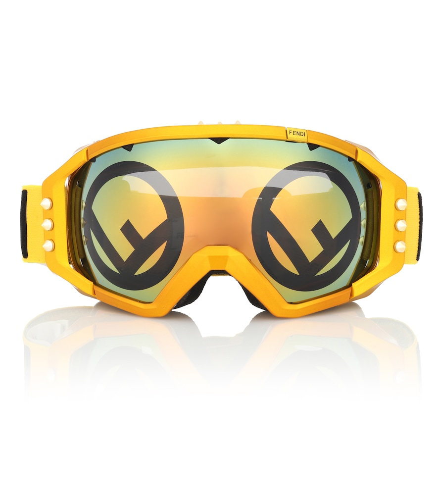 Mirrored Ski Goggles in Yellow Multi