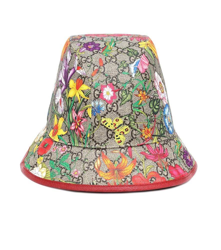 GG Flora cotton-blend bucket hat