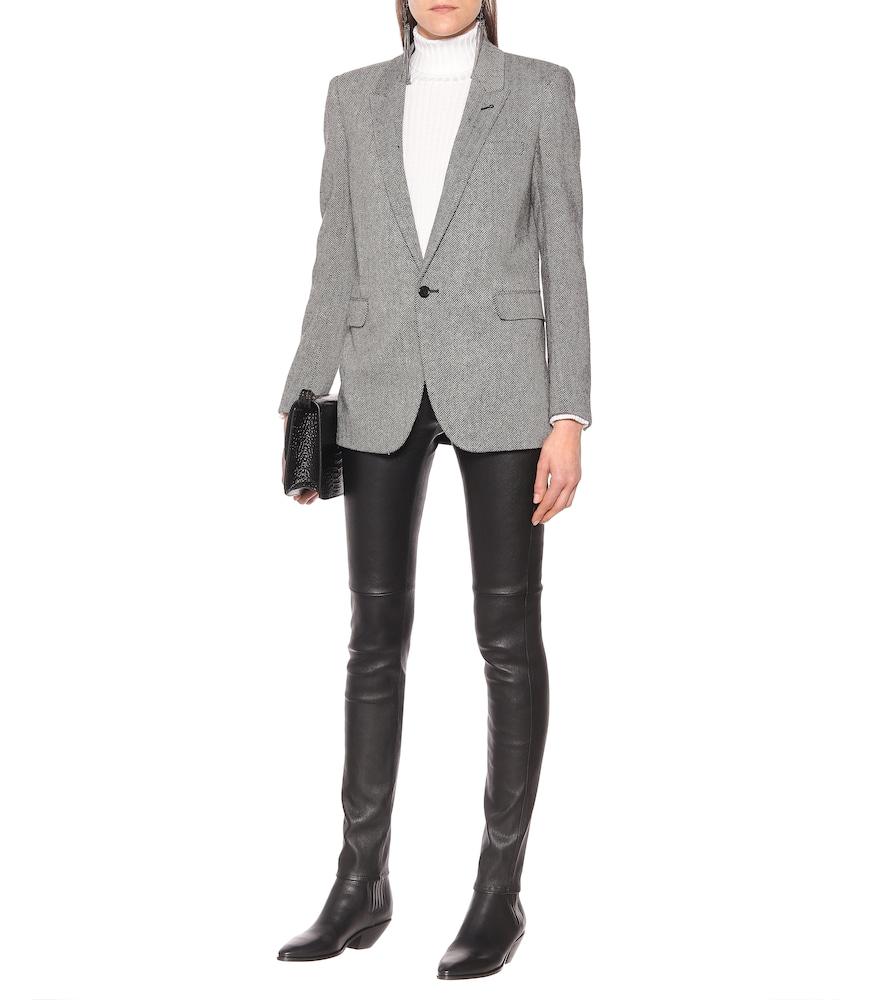Chevron stretch-wool blazer by Saint Laurent