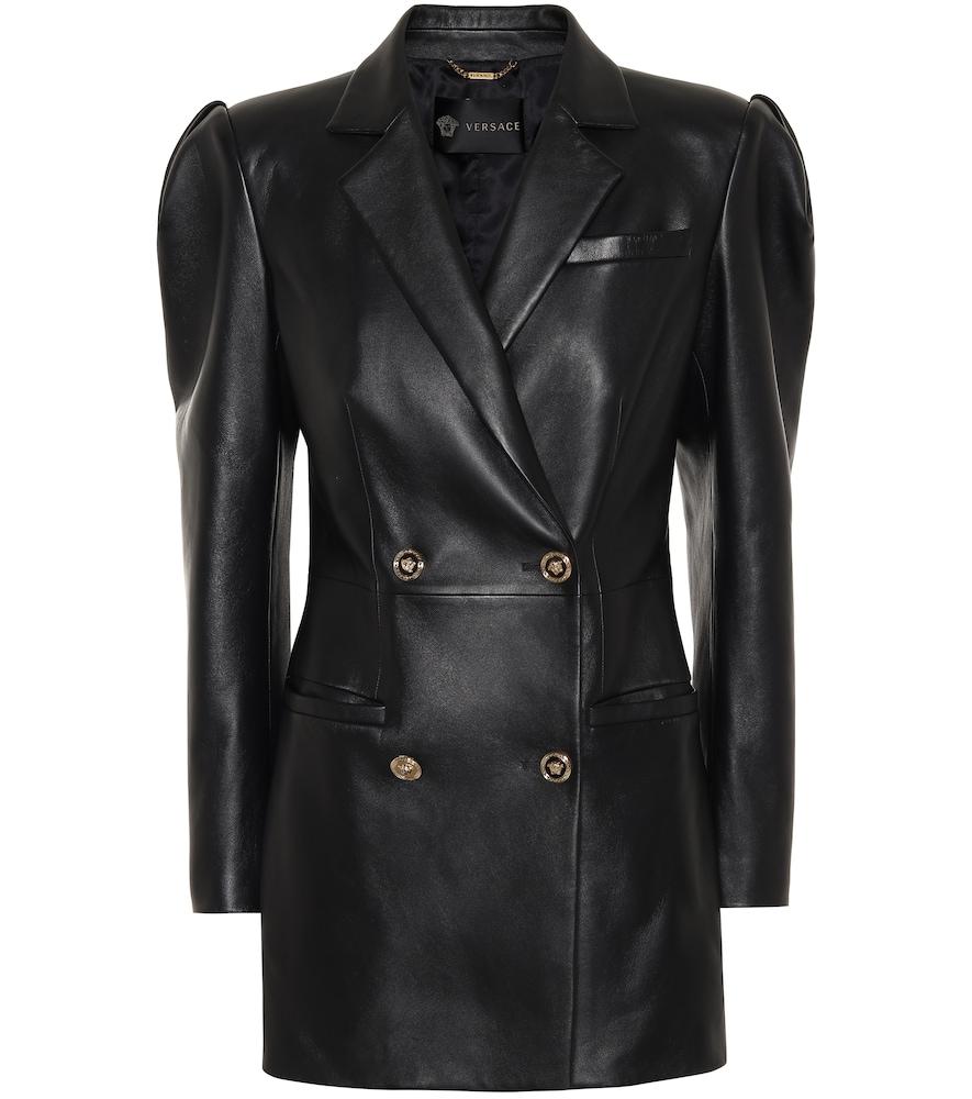 Robe en cuir - Versace - Modalova