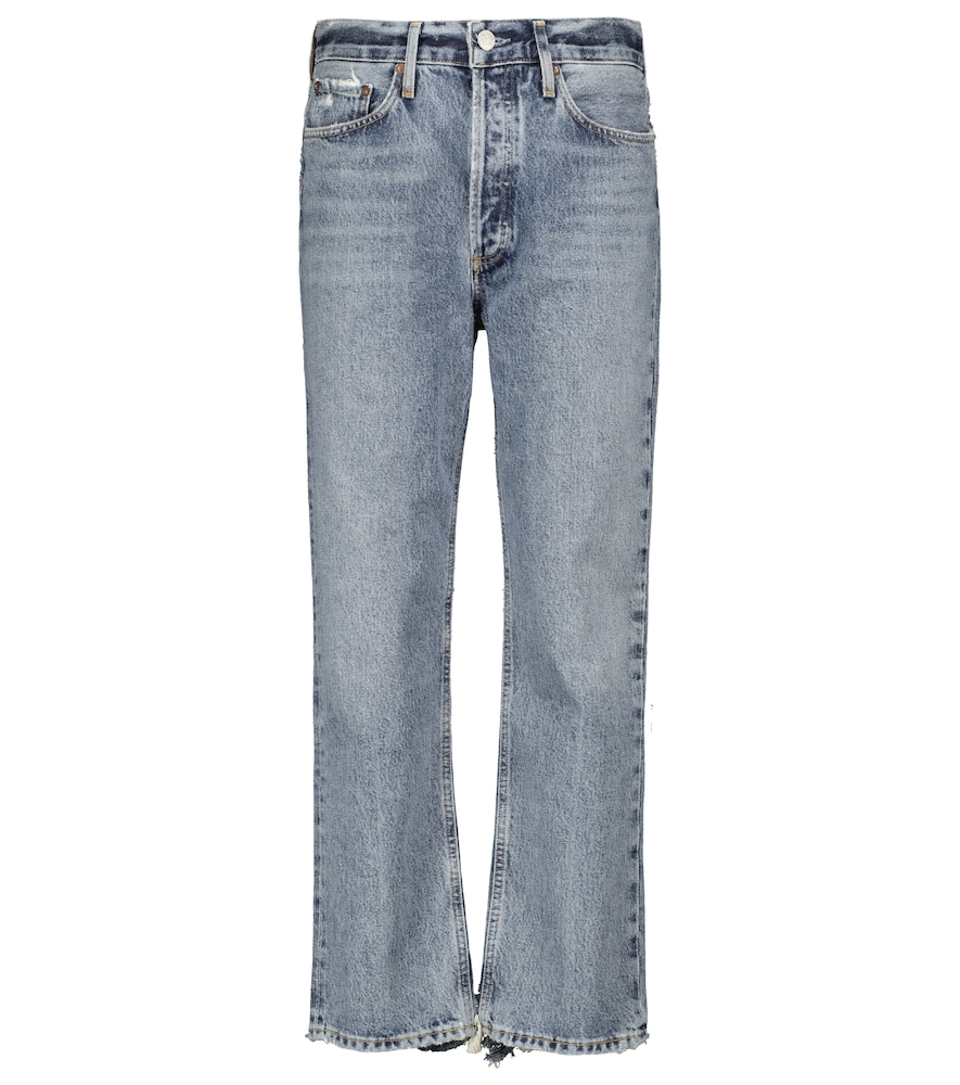 Lana mid-rise straight cropped jeans