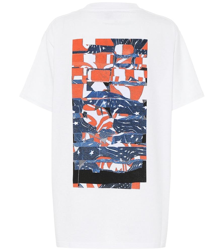 T-shirt Collage en coton mélangé