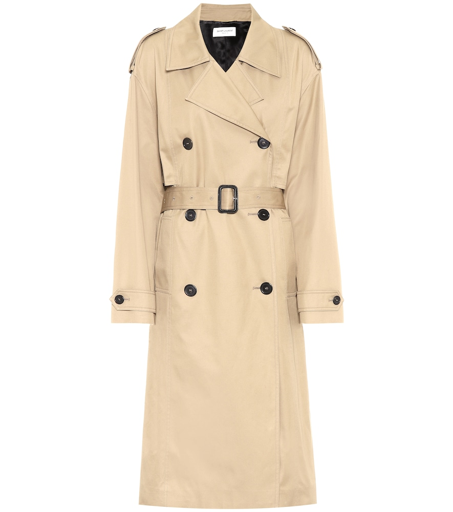 Trench-coat en coton - Saint Laurent - Modalova