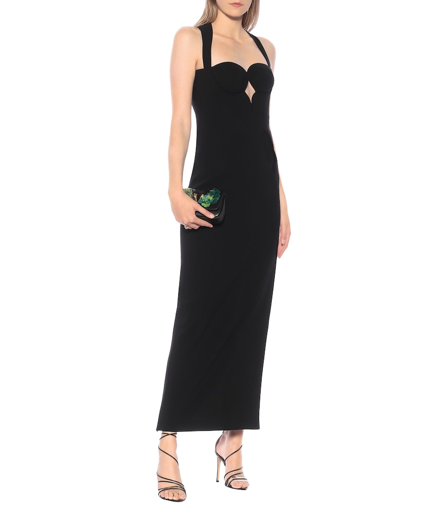 Stretch-cr?e gown by Versace