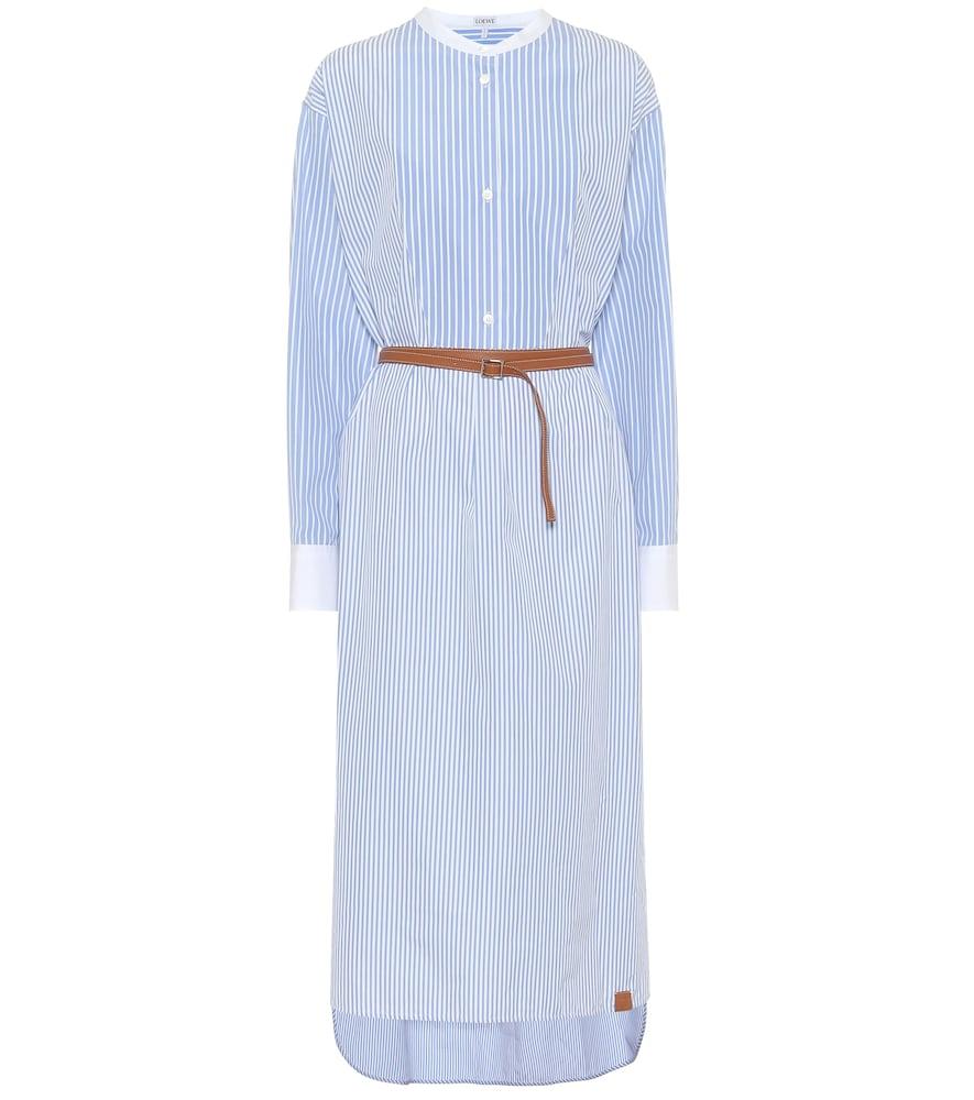 Robe chemise rayée en coton - Loewe - Modalova
