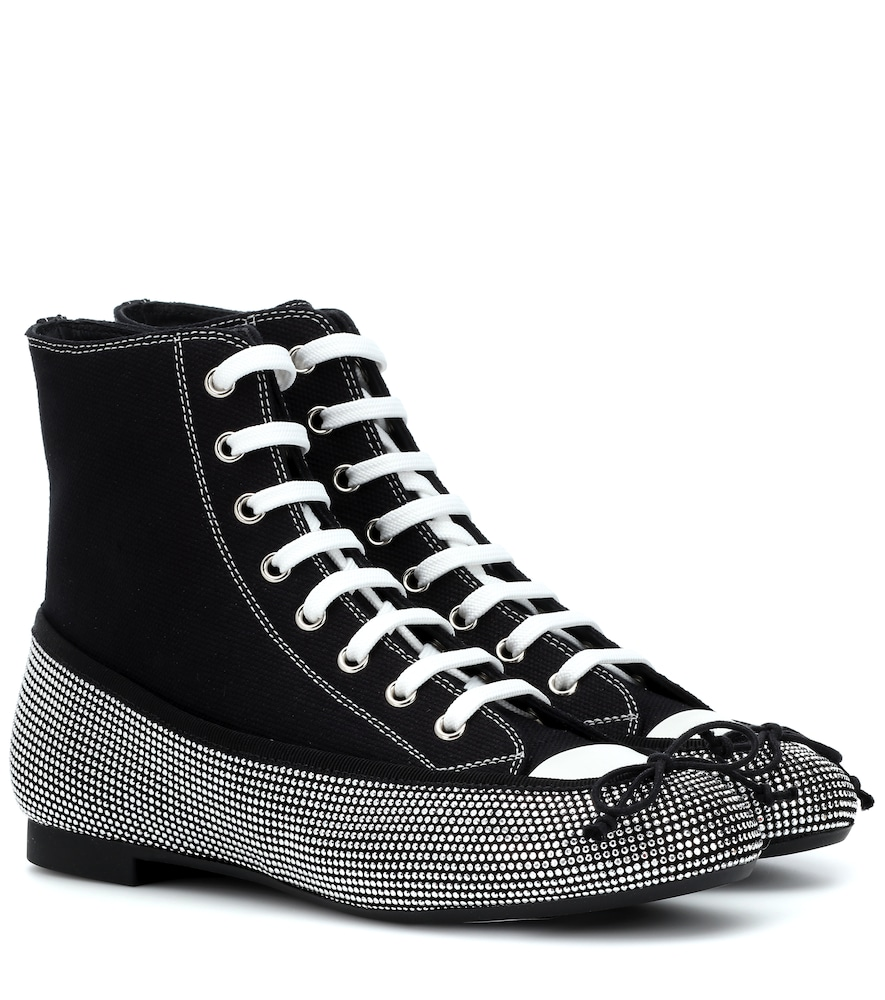 MARCO DE VINCENZO EMBELLISHED SNEAKERS