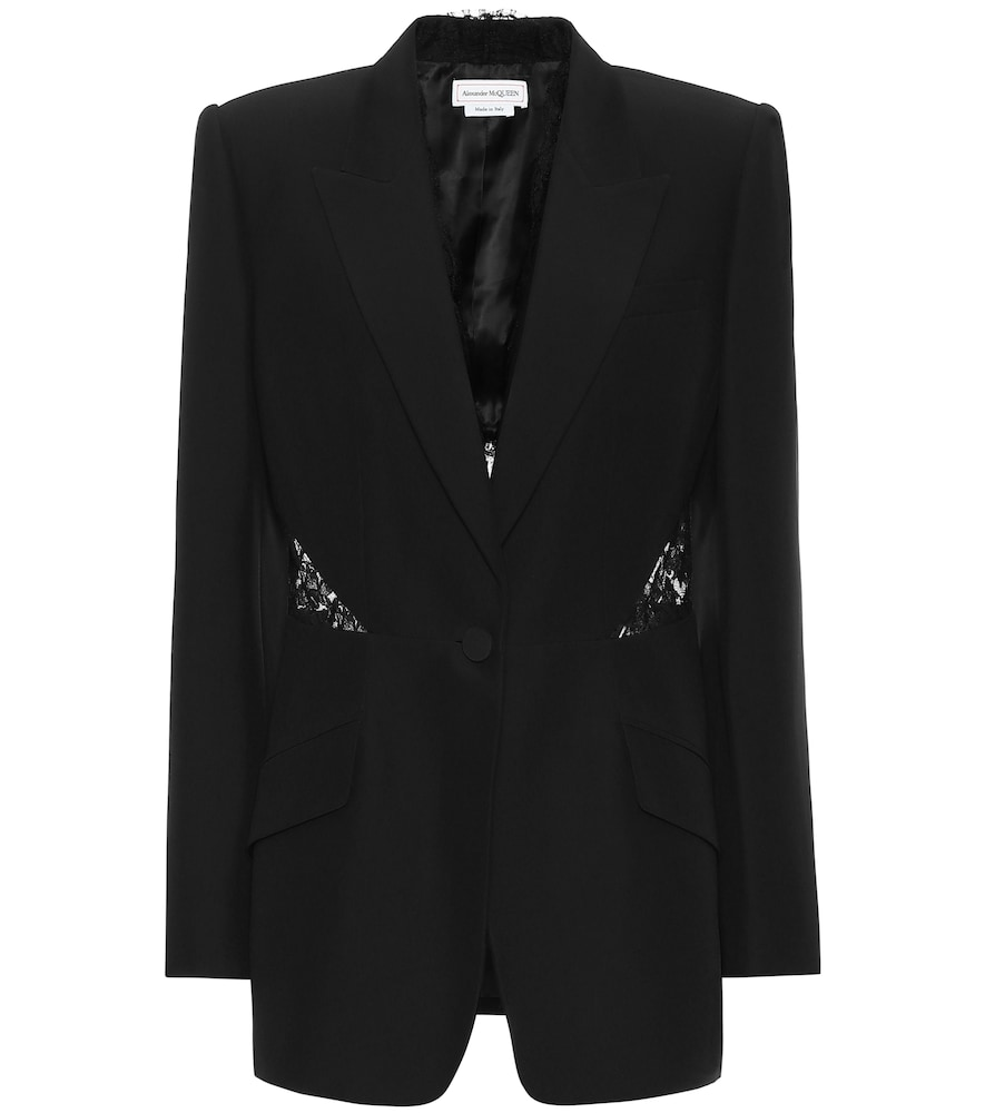 Alexander Mcqueen Blazers EMBELLISHED SINGLE-BREASTED BLAZER