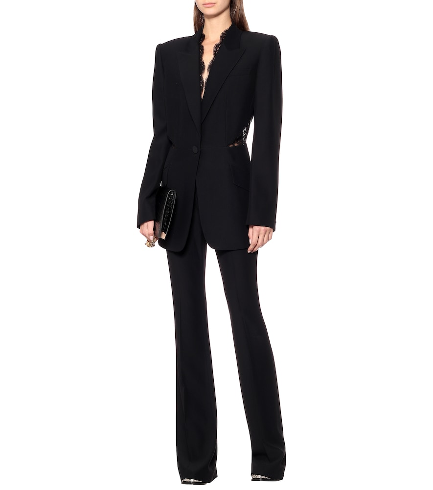 Embellished single-breasted blazer by Alexander McQueen