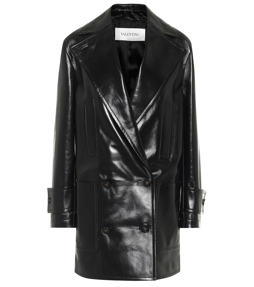 Manteau en cuir - Valentino - Modalova
