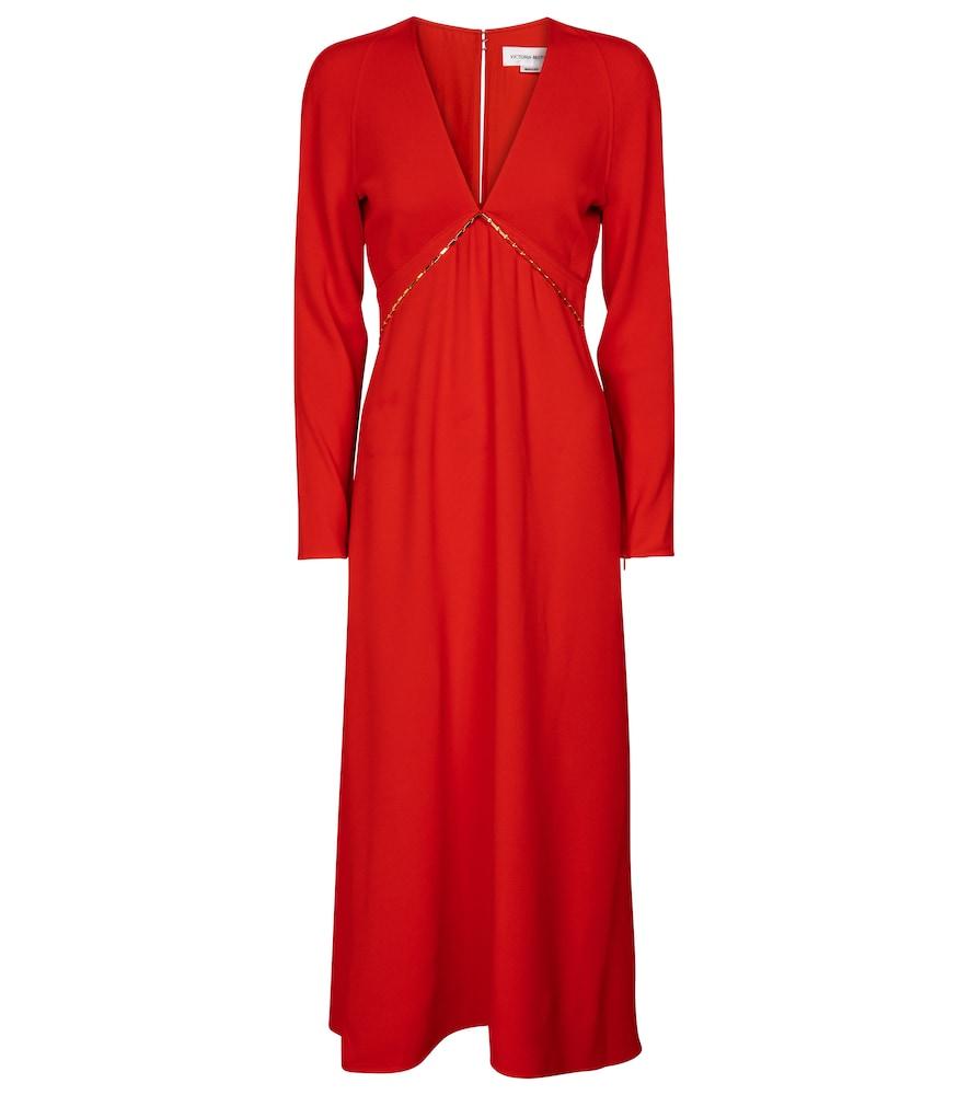 Embellished cady midi dress by Victoria Beckham