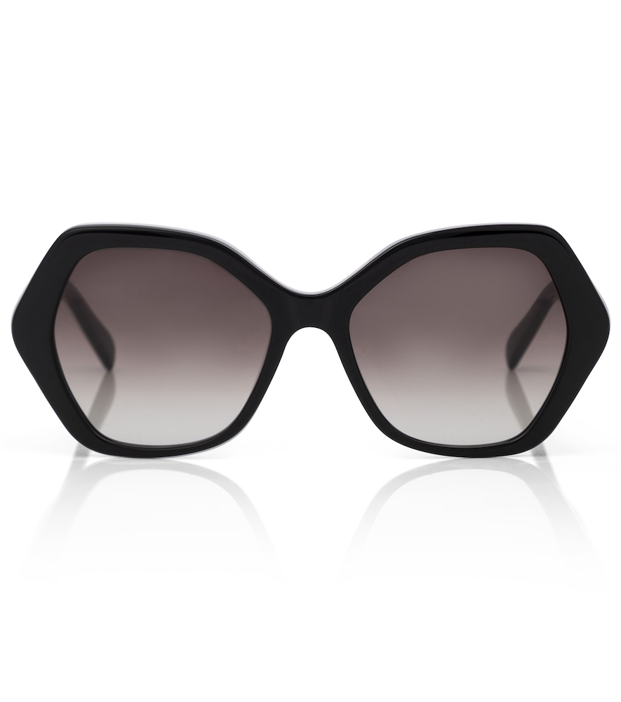 Geometric acetate sunglasses