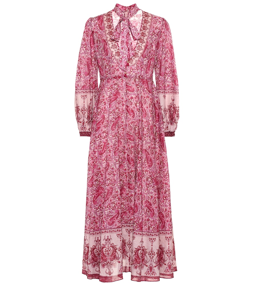 ZIMMERMANN | Amari Plunge Cotton Maxi Dress | Goxip