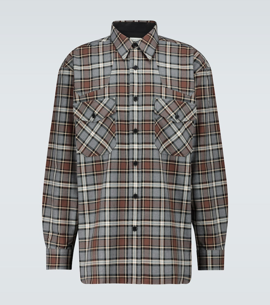 Chemise à carreaux en flanelle - Dries Van Noten - Modalova