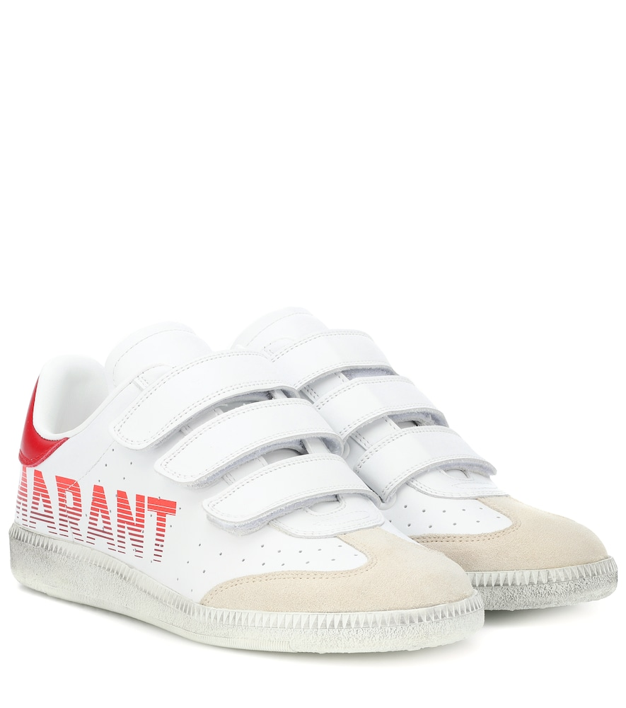 20Mm Beth Logo Leather Strap Sneakers in White