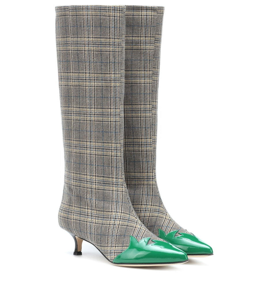 EVIN PLAID BOOTS