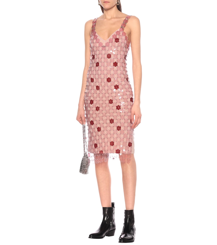 Exclusive to Mytheresa - Floral paillette-embellished dress by Paco Rabanne