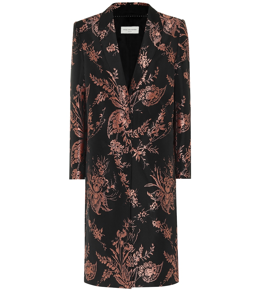 Floral brocade coat by Dries Van Noten
