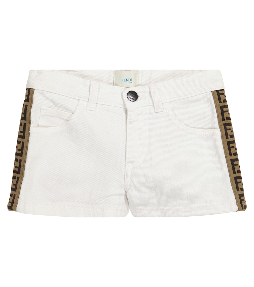 Fendi FF STRETCH-COTTON DENIM SHORTS