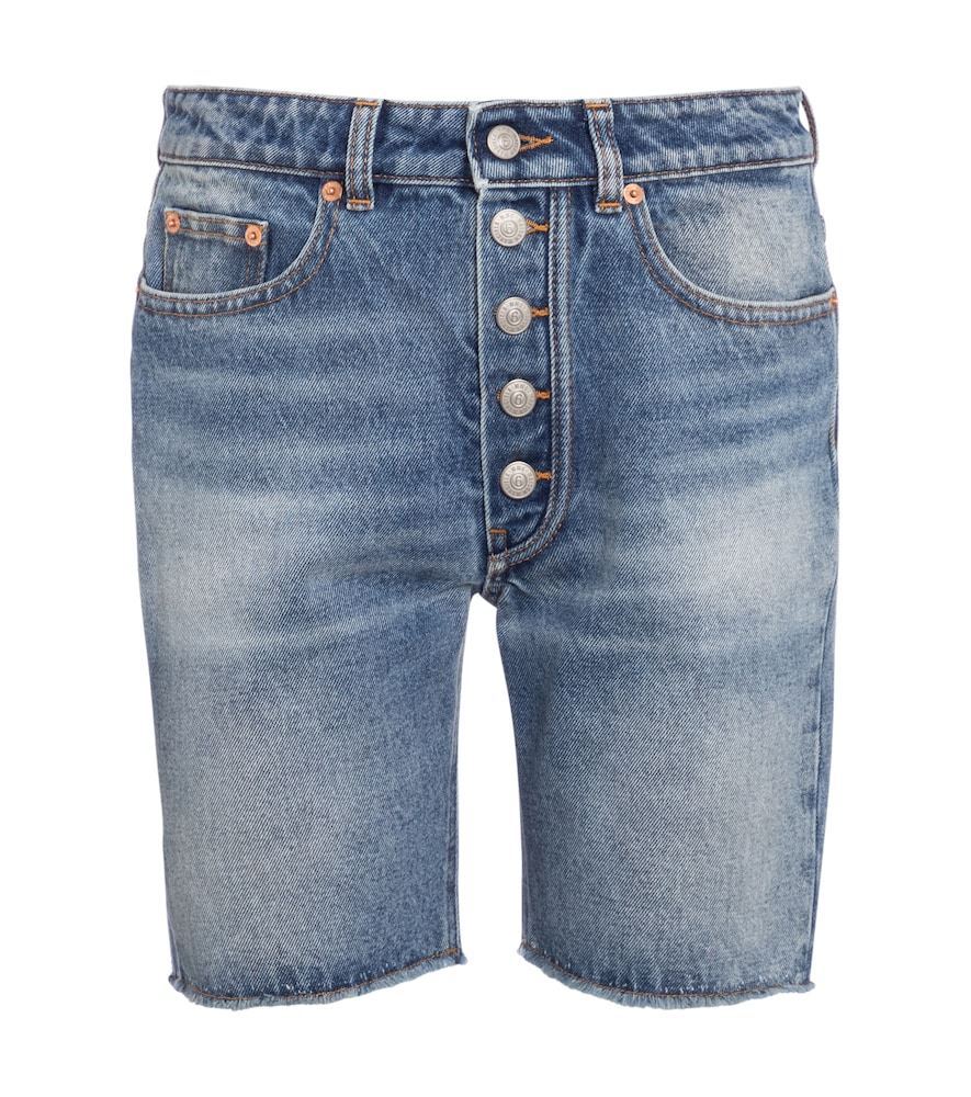 Mm6 Maison Margiela HIGH-RISE DENIM SHORTS