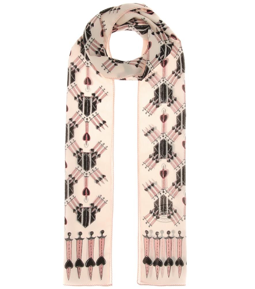 Love Blade silk crêpe scarf