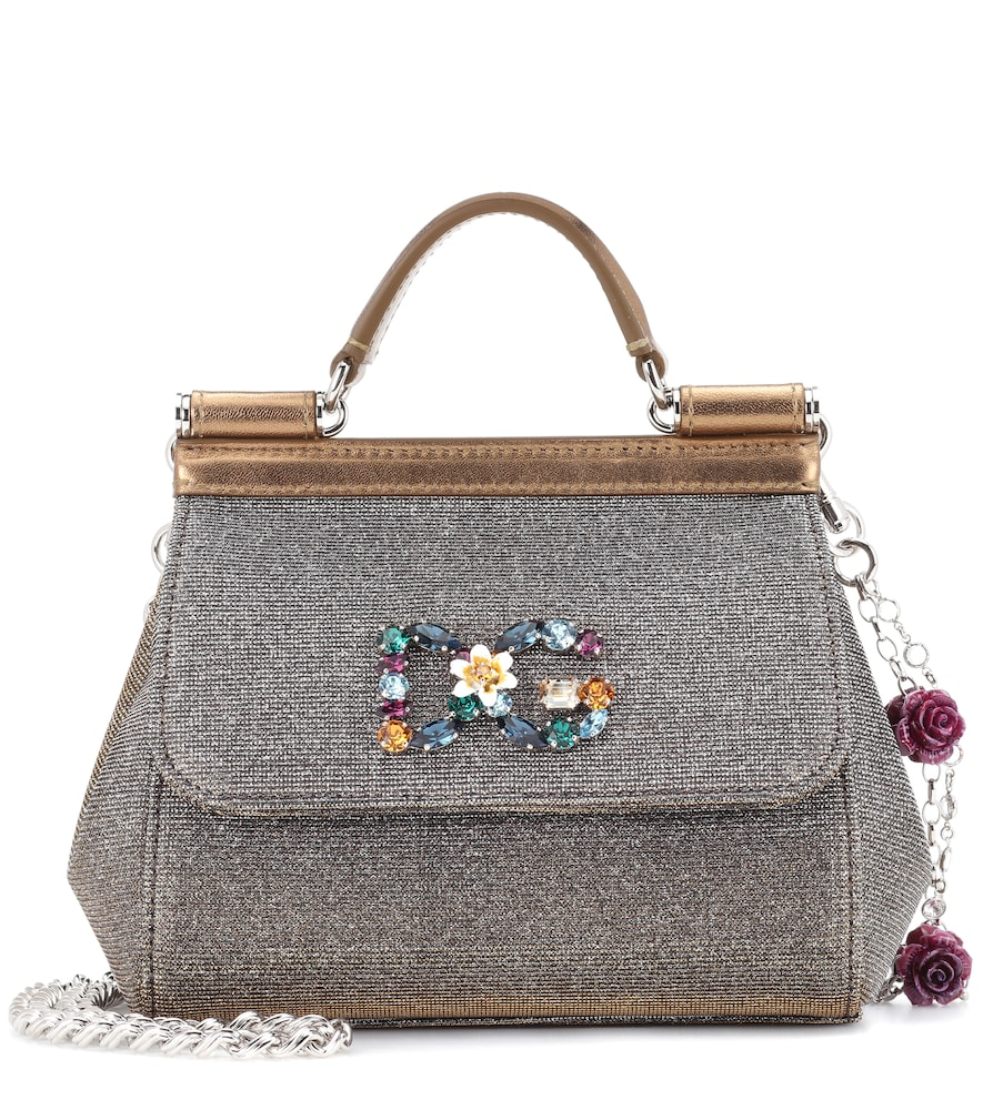 Mini Leather Sparkling Sicily Bag in Metallic