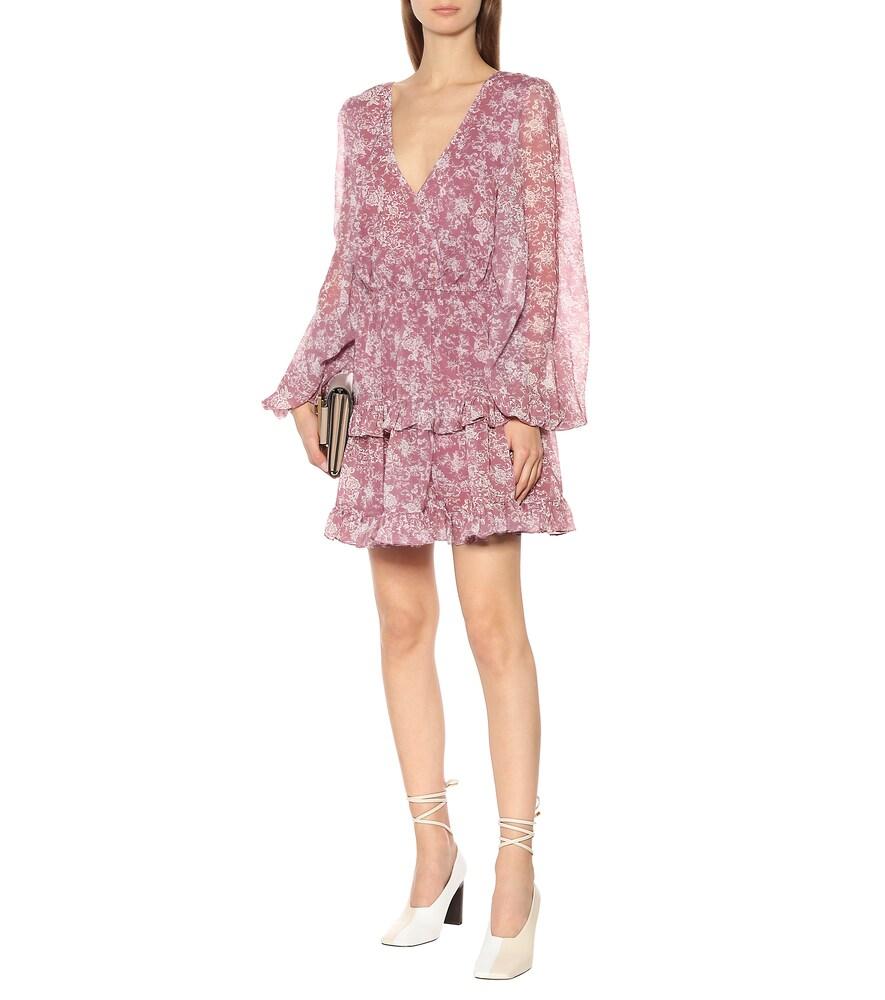 Fai floral stretch-cotton minidress by Caroline Constas