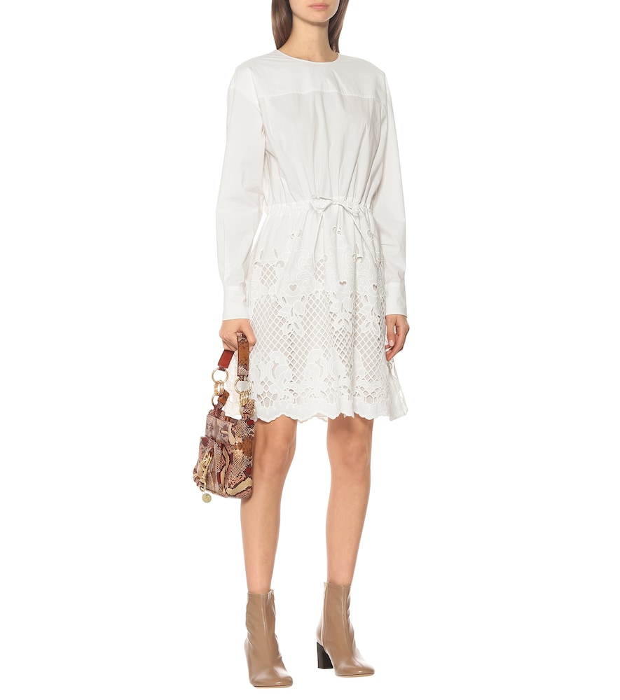 Embroidered cotton minidress by See By Chloé
