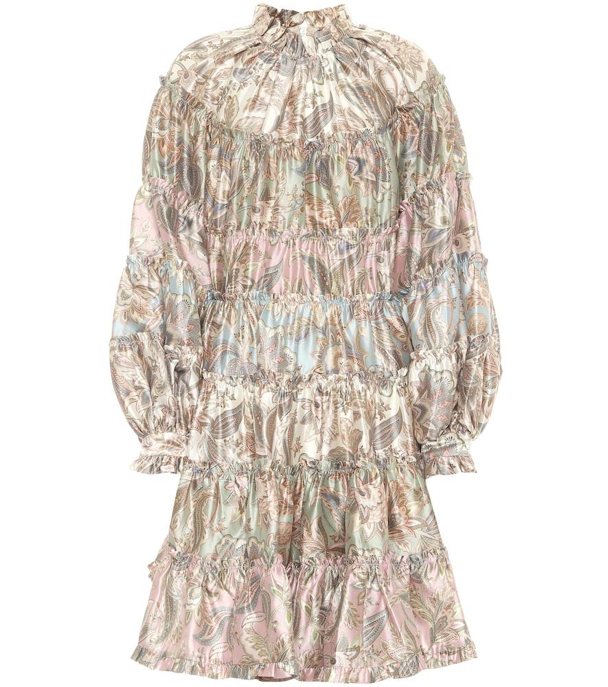 Ladybeetle floral wool-blend minidress by Zimmermann