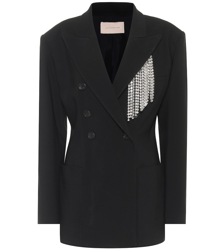 Embellished twill blazer by Christopher Kane