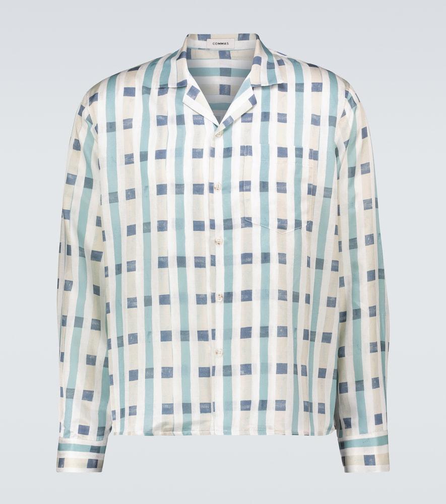 Printed silk-cotton shirt