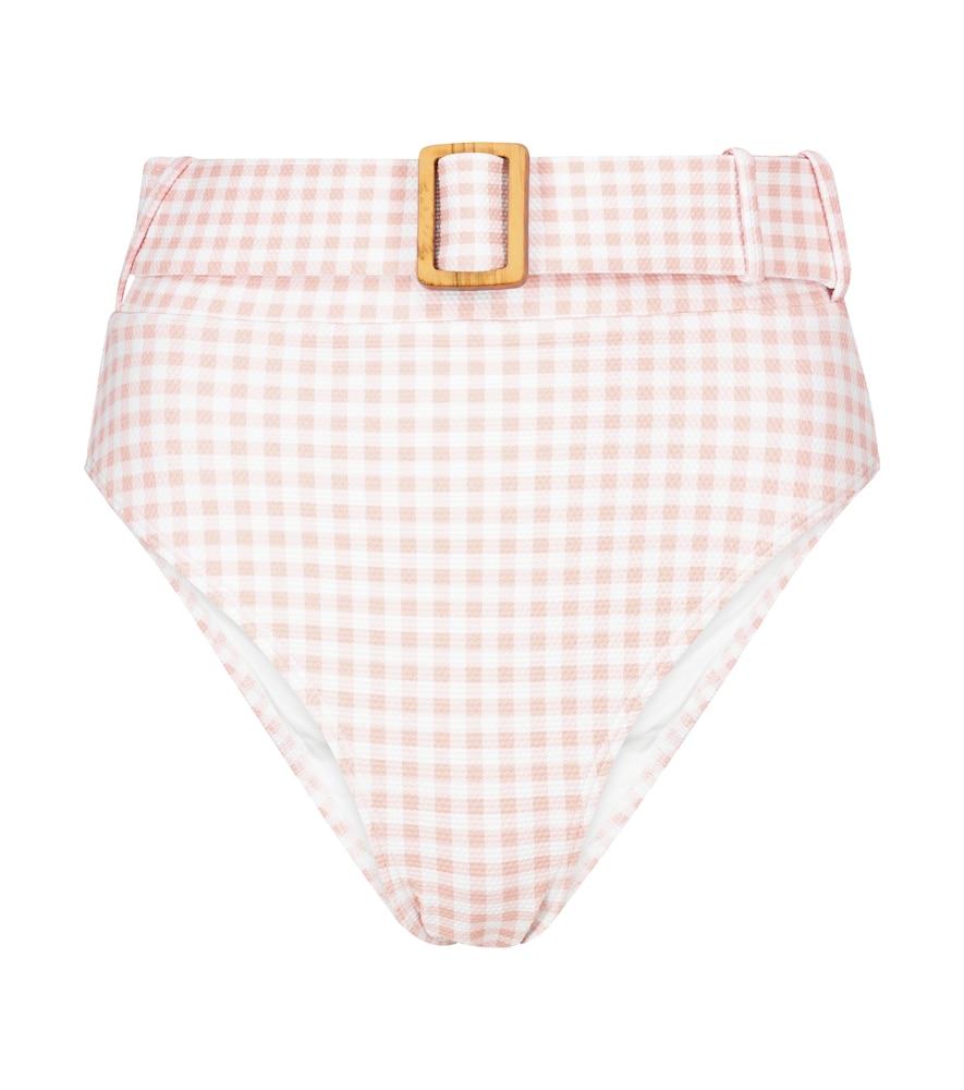 Alexandra Miro Exclusive To Mytheresa - Ursula Gingham Bikini Bottoms In Pink
