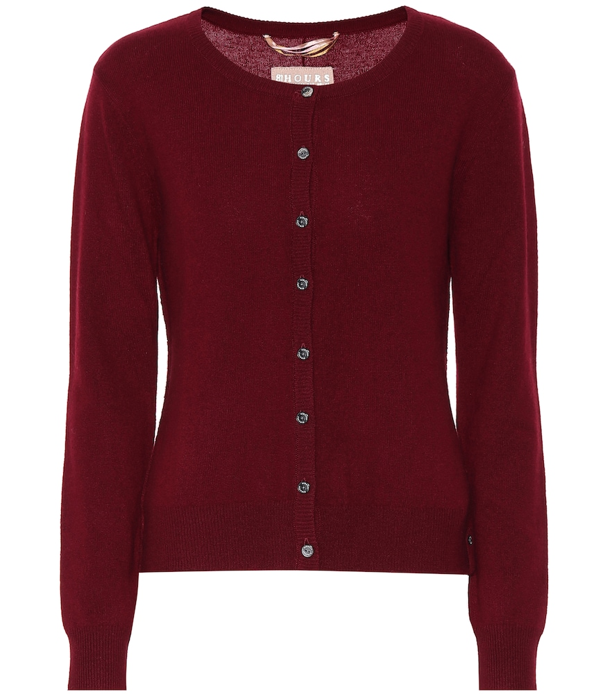 81 HOURS Clyde Cashmere Cardigan in Red